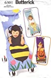Butterick 6301 Halloween Stroller Covers Pattern, Pumpkin, Bumble Bee, Fish