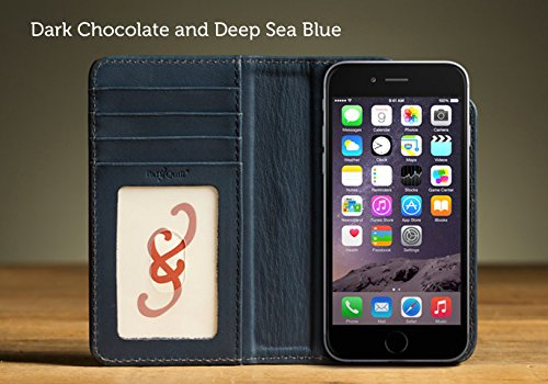 official photos 25e67 90d81 Pad and Quill The Bella Fino Case for iPhone 6 - Chocolate/Blue ...