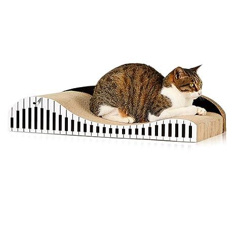 Lucky Family Gato Que Rasca El Tablero para Gatos con Catnip, Cartón Corrugado para Mascotas