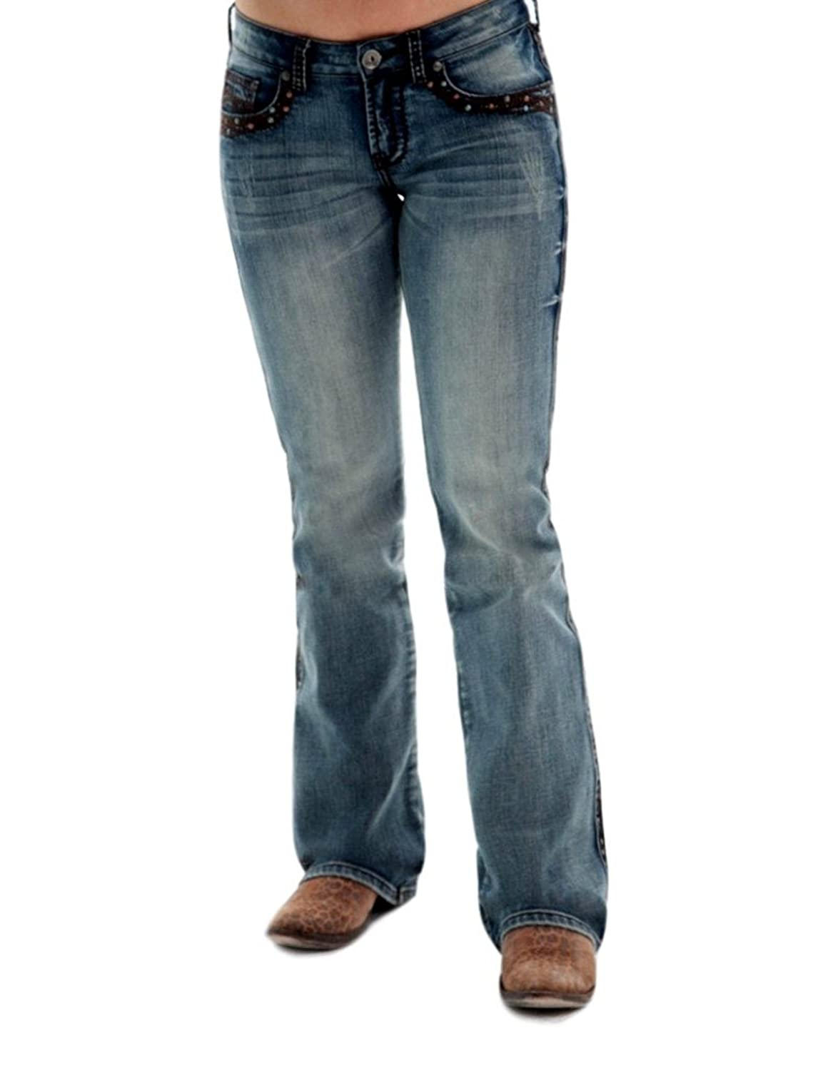Cowgirl Tuff Western Denim Jeans Womens Show It Off ll Med JSIFTH