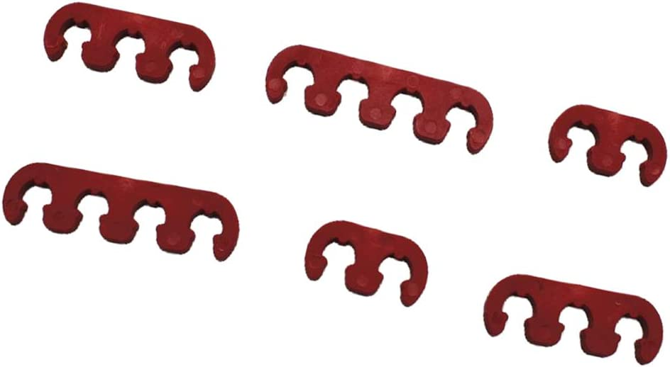 Rot Z/ündkerzen Draht Separator 7mm 8mm 9mm Universal Fit f/ür Chevy Ford SDENSHI 6 St/ück Z/ündkabel Trenner