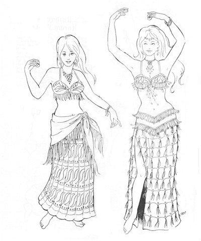 Khariya's Skirts Pattern (Belly ()