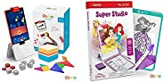 Osmo - Genius Kit for Fire Tablet - 5 Hands-On Learning Games - Ages 5-12 - Problem Solving & Creativity -