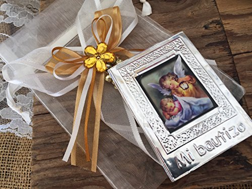 Baptism Favors Ivory Color 12pc Prayer Books Covered In Repujado