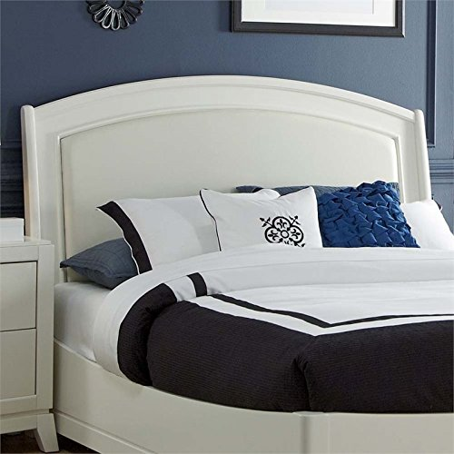 Liberty Furniture 205-BR24HL Avalon II Platform Leather Headboard, King, White Truffle