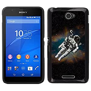 LECELL--Funda protectora / Cubierta / Piel For Sony Xperia E4 -- Astronauta cosmonauta en el espacio --