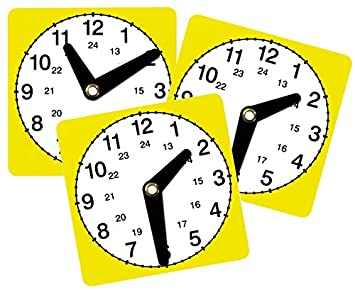 Unbekannt Lernuhr 3er Set Uhr Lesen Lernen Kinder Uhrzeit Zeit