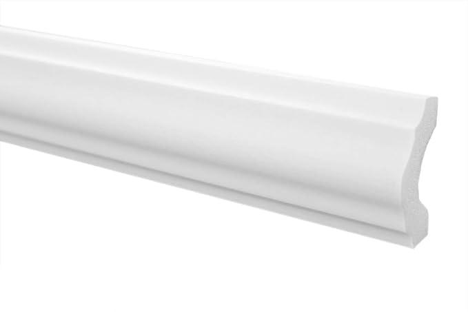 E-15 2 Meter perfil de techo decoraci/ón barra cornisa NMC duro 80 x 80 mm