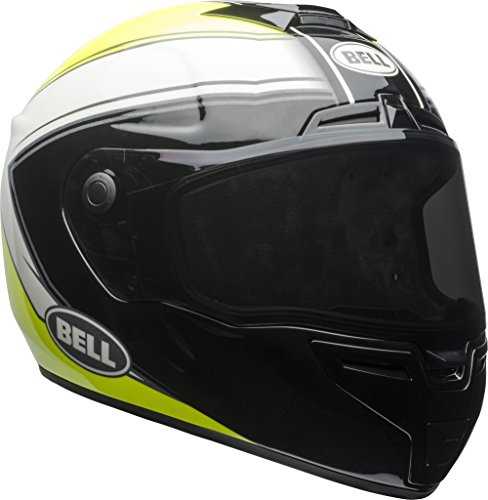Bell SRT Modular Motorcycle Helmet (Phantom Gloss Hi Viz Yellow/Black/White, Large)