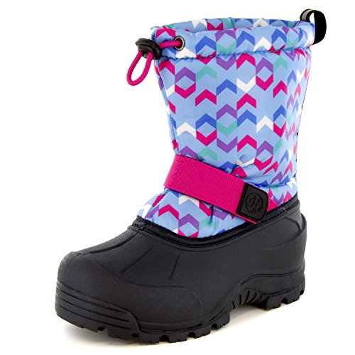 Price comparison product image Northside Kid's Frosty Winter Snow Boot, Lt Blue/Fuchsia, 11 M US Little Kid
