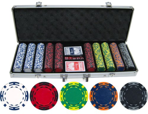 Striped Clay Poker Chips - 2