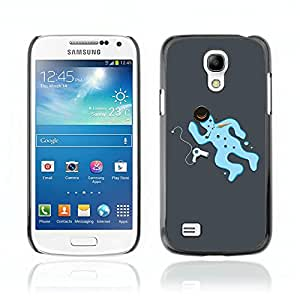CASETOPIA / Snowman Death / Samsung Galaxy S4 Mini i9190 MINI VERSION! / Prima Delgada SLIM Casa Carcasa Funda Case Bandera Cover Armor Shell PC / Aliminium