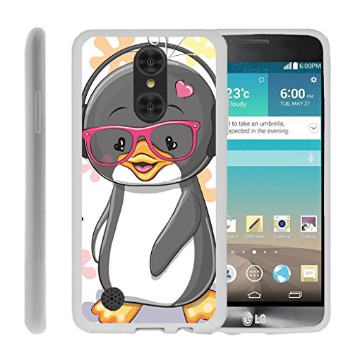 TurtleArmor | LG Fortune Case | Phoenix 3 Case | K4 2017 Case | Risio 2 Case [Flexible Armor] Ultra Slim Compact Flexible TPU Case Fitted Soft Bumper Cover Animal Design - Cute (Att Cover)