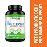 Zenwise Health Digestive Enzymes Plus Prebiotics & Probiotics - Clinically Studied Immune Support & Promotes Better Digestion - for Bloating & Constipation + Gas Relief - 180 Vegetarian Capsules