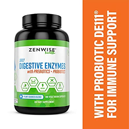 Zenwise Health Digestive Enzymes Plus Prebiotics &...