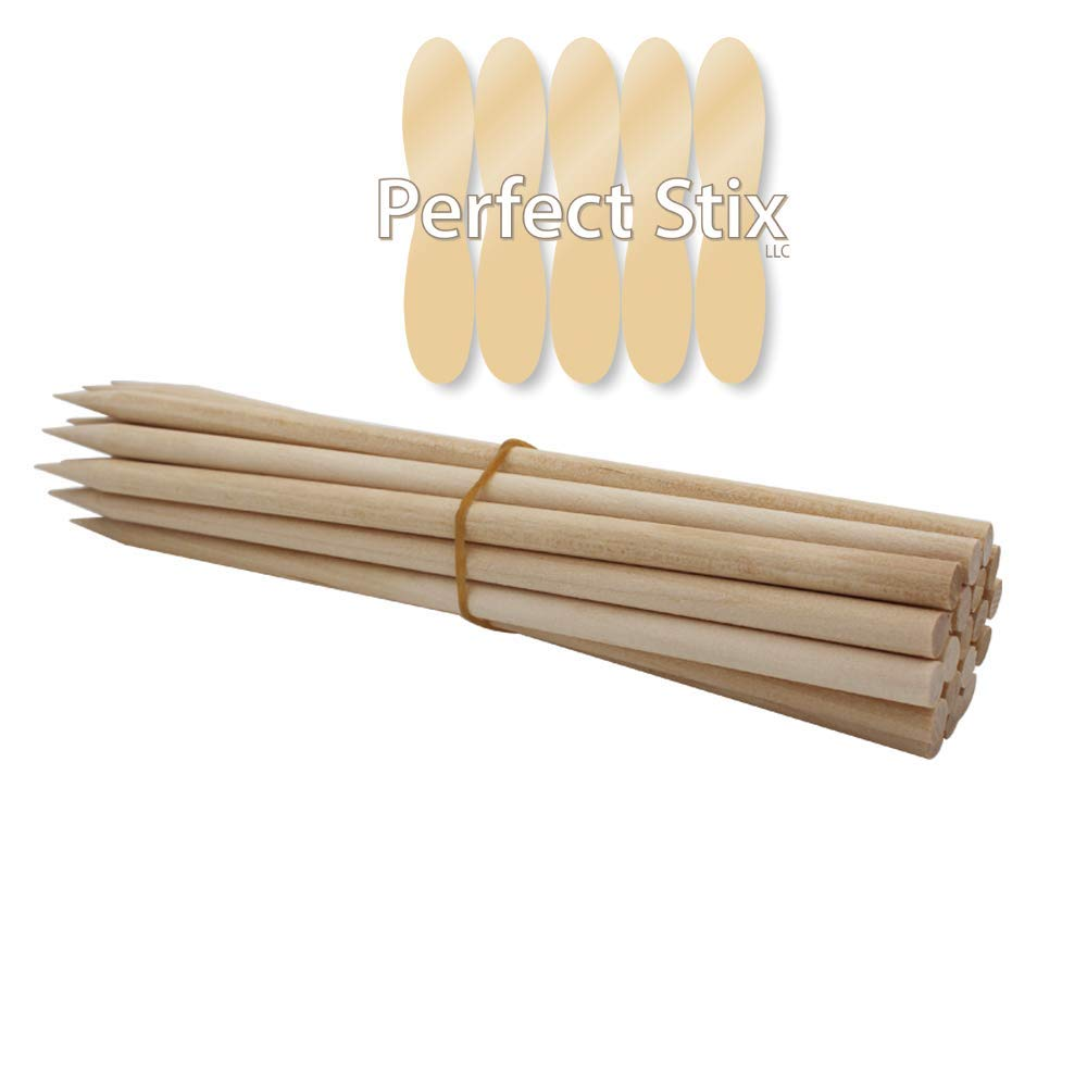 Perfect Stix Candy Apple Wooden Stick Skewer 5.5'' Length 1/4'' Diameter ( pack of 1000) by Perfect Stix