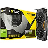 ZOTAC GeForce GTX 1080 AMP! Edition, ZT-P10800C-10P, 8GB GDDR5X IceStorm Cooling, Metal Wraparound Carbon ExoArmor exterior, Ultra-wide 100mm Fans, Spectra Lighting, PowerBoost, FREEZE fan stop