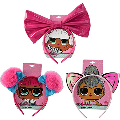 LOL! Surprise Party Supplies Headbands Pack of Three | Kitty Queen, Diva and Teachers Pet