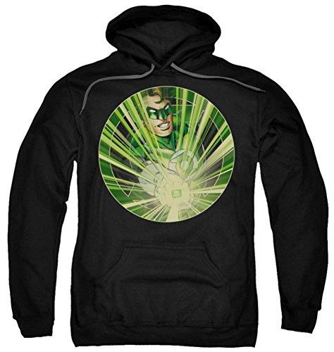 62eb84a21c4765 Hoodie Green Lantern Light Em Up Pullover Hoodie Size Xl