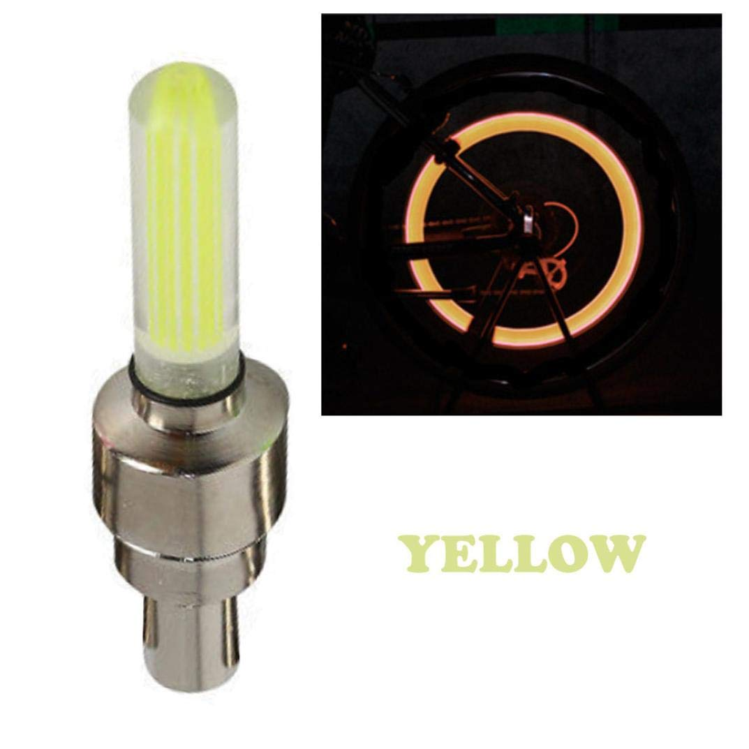 Colorful EKYAOMEI 4 Pack LED Automatic Flash Neon Air Valve Light Lamp Tyre Wheel Tire Valve Stem Cap Cover for Cars Cycling