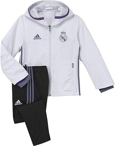 adidas Real Madrid CF Pre I Chándal, niño, Blanco/Morado, 4-5 años: Amazon.es: Deportes y aire libre