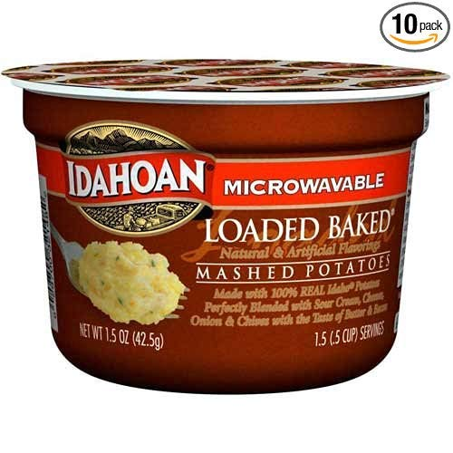 Idahoan Loaded Baked Mashed Potatoes Cup, 1.5 Ounce - 10 per case.