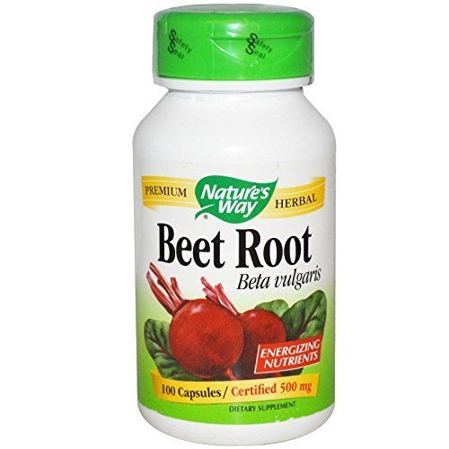 Nature's Way Beet Root Powder Capsules 500 mg, 100-Count (Pack of 3)