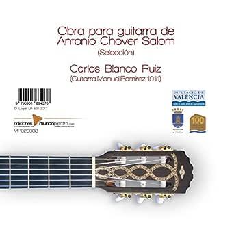 Obra para guitarra de Antonio Chover Salom (Selección) de Carlos ...