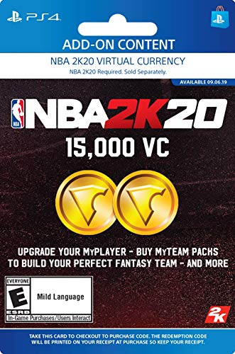 NBA 2K20: 15000 VC Pack - [PS4 Digital Code]