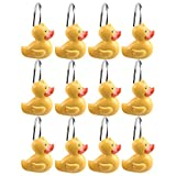 AGPtek® 12 PCS DECORATIVE Home Fashions Shower Curtain Rings with Various Patterns (Duck)