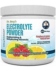 Dr. Berg's Original Electrolyte Powder, High Energy, Replenish & Rejuvenate Your Cells, 45 Servings, NO Maltodextrin or Sugar, Amazing Raspberry Lemon Flavor (Solo Pack)