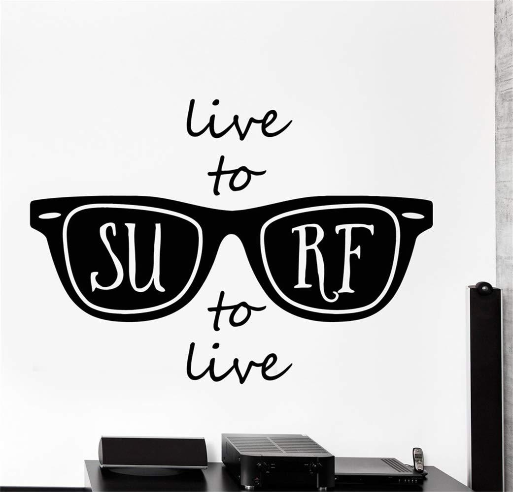 pegatinas de pared 3d infantil Live To Surf to live Surfing ...