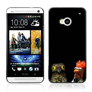 Designer Depo Hard Protection Case for HTC One M7 / Funnny ORLY WTF Owl & Muppet