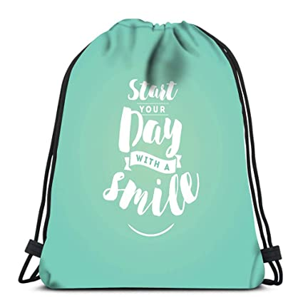adceec4da91c Amazon.com: Randell Gym Drawstring Backpack Sport Bag 80S Style ...