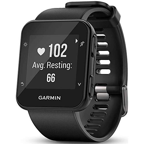Garmin Forerunner 35 GPS Running Watch, Sunlight-Visible, 5 ATM Water Rating, 0.93 x 0.93 Display Size, 128x128 Pixels Resolution, iPhone/Android Compatible, Black (010-01689-00)