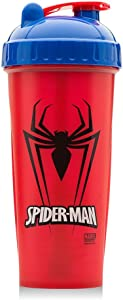 Performan PerfectShaker Spiderman Shaker Bottle With Actionrod Mixing Technology
