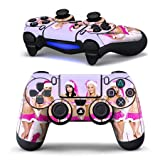 1 Pair of Protective Vinly Decal Skin/stickers Wrap for Ps4 Controller Game Pad for Sony Play Station 4 Dualshock Wireless Controller Wrap Gamepad Santa Girls For Sale