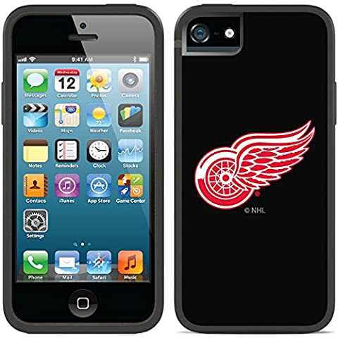 Coveroo iPhone 5/5S Black Switchback Case with Detroit Red Wings Primary Logo Design - Backplate Wing