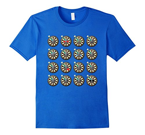 [Men's Dart Emoji Many Face Emotion Shirt Throw Fun T-Shirt Tee Small Royal Blue] (Puck To The Face Costume)