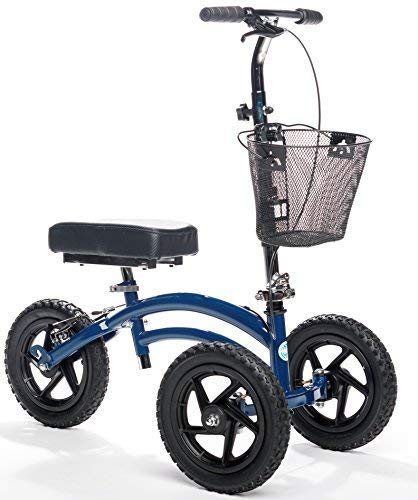 - All Terrain KneeRover Steerable Knee Scooter Knee Walker Heavy Duty Crutches Alternative in Blue