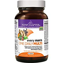 New Chapter Every Man's One Daily, Men's Multivitamin Fermented with Probiotics + Selenium + B Vitamins + Vitamin D3 + Organic Non-GMO Ingredients - 96 ct