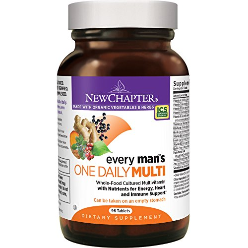 New Chapter Every Man's One Daily, Men's Multivitamin Fermented with Probiotics + Selenium + B Vitamins + Vitamin D3 + Organic Non-GMO Ingredients - 96 (One Daily Multivitamin Supplement)