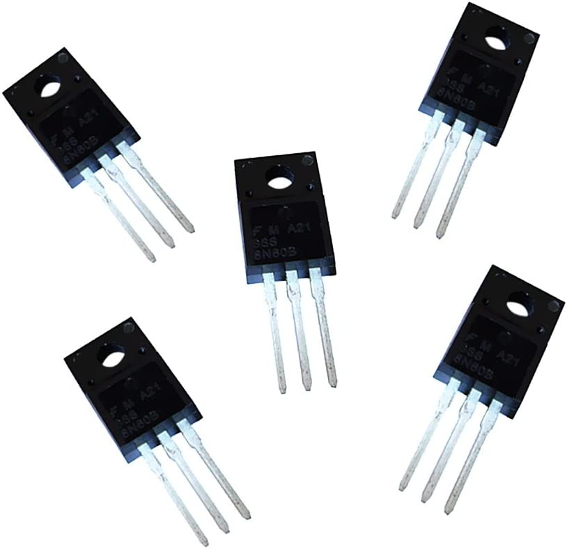 5 Pieces Power MOSFET 600V 8A 3 Pin TO-220 8N60 GPS & Navigation ...