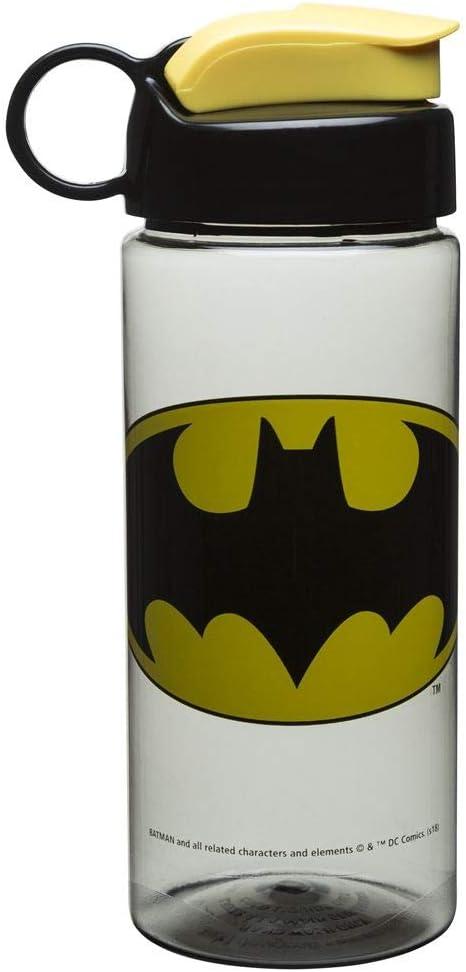 Zak Designs Batman 16.5oz Sullivan Bottle Clear Charcoal Black//Yellow Logo Water Bottle