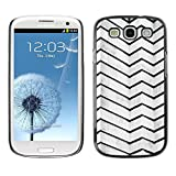 FECELL CITY // Hard PC Aluminium Sticker Case Cover Decorative Shell for Samsung Galaxy S3 I9300 // Architecture Lines Stripes Wall Black White