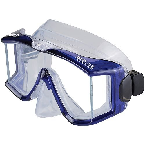 Ocean Quest Arctic Clear High Definition Panoramic Purge Mask Yellow (Nose Mask Quest)