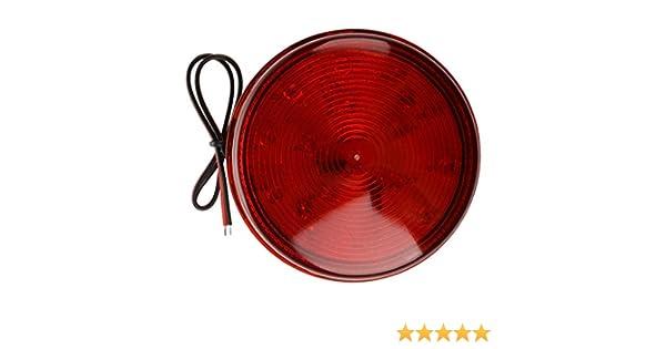 TOOGOO(R) Luz de alarma Rojo LED luz estroboscopica de seguridad y casa para la seguridad del sistema de automatizacion para informar al nuevo ...