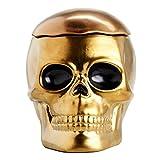 skull cookie jar - Gold Ceramic Halloween Skull Cookie Jar