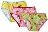 Strawberry Shortcake Little Girls' Strawberry Allover 3 Pack Panties, Multi, 6