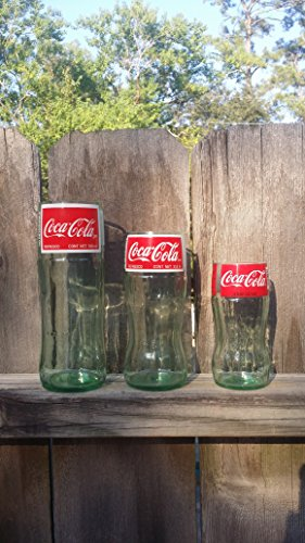 Set of 3 different sized Coke tumblers
